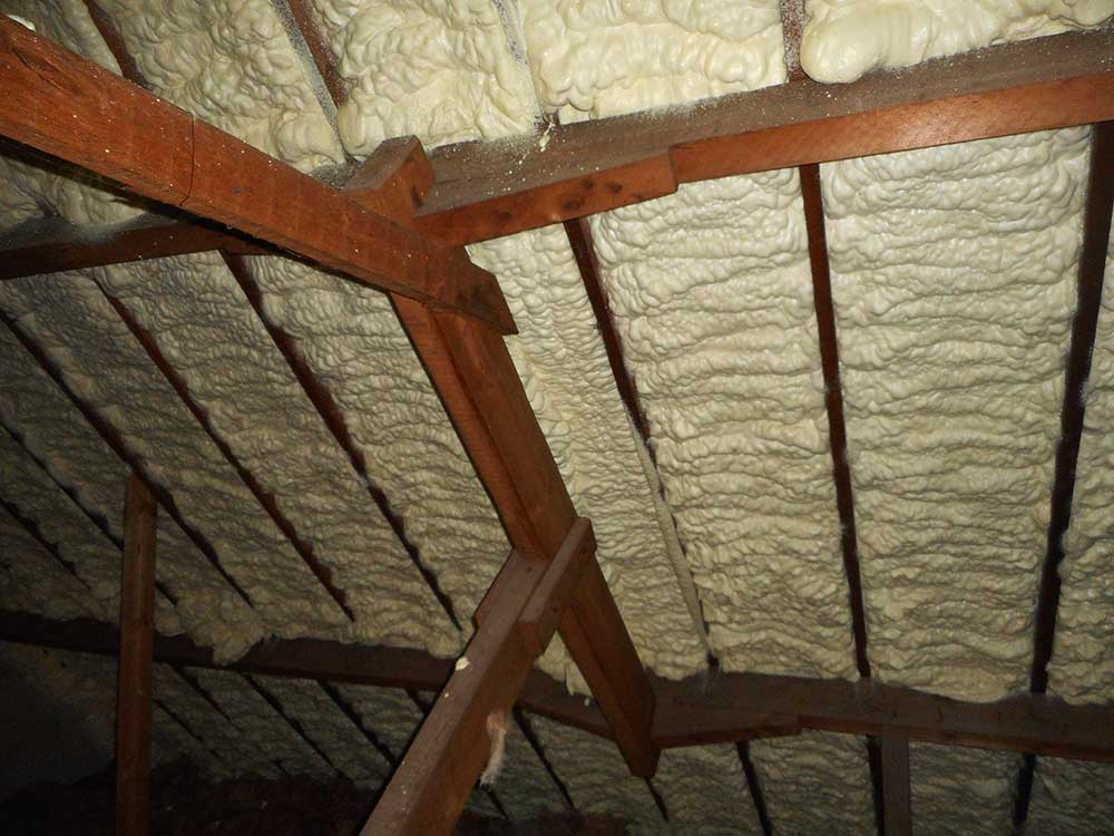 Roof insulation inspection