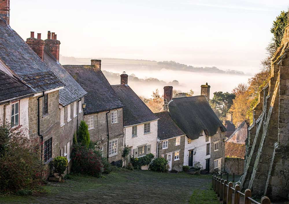 Shaftesbury English cottages in Dorset